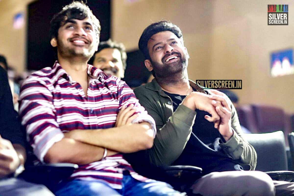 #Prabhas is all smiles at the #Saaho  song launch in Chennai.<br>http://pic.twitter.com/WHdd5JPtPo