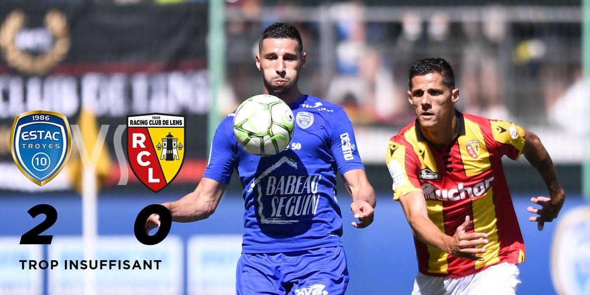 Trop insuffisant : @estac_officiel 2-0 Lens Retour sur le match   http://www. rclens.fr/fr/match/saiso n-2019-2020-championnat-dominos-ligue-2-journee-5-troyes-lens  …  #ESTACRCL #rclens   @DominosLigue2<br>http://pic.twitter.com/6YFuBTrsGe