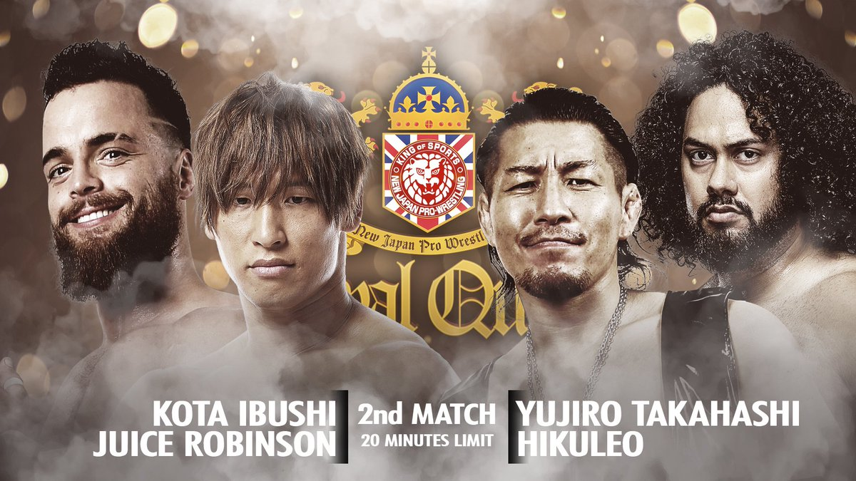 Just ONE WEEK away from #NJPWRoyalQuest!  The G1 Climax 29 winner Kota Ibushi teams with the charismatic badass Juice Robinson to take on Yujiro Takahashi and fast rising BULLET CLUB prospect Hikuleo!  EXCLUSIVELY LIVE ON @FiteTV!   http:// ow.ly/sL7w50vE2ui    <br>http://pic.twitter.com/YaMXrEhmRz