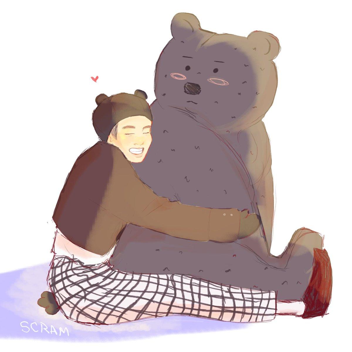 Winter Bear  #btsfanart #Taehyung<br>http://pic.twitter.com/pZElOEYD1p
