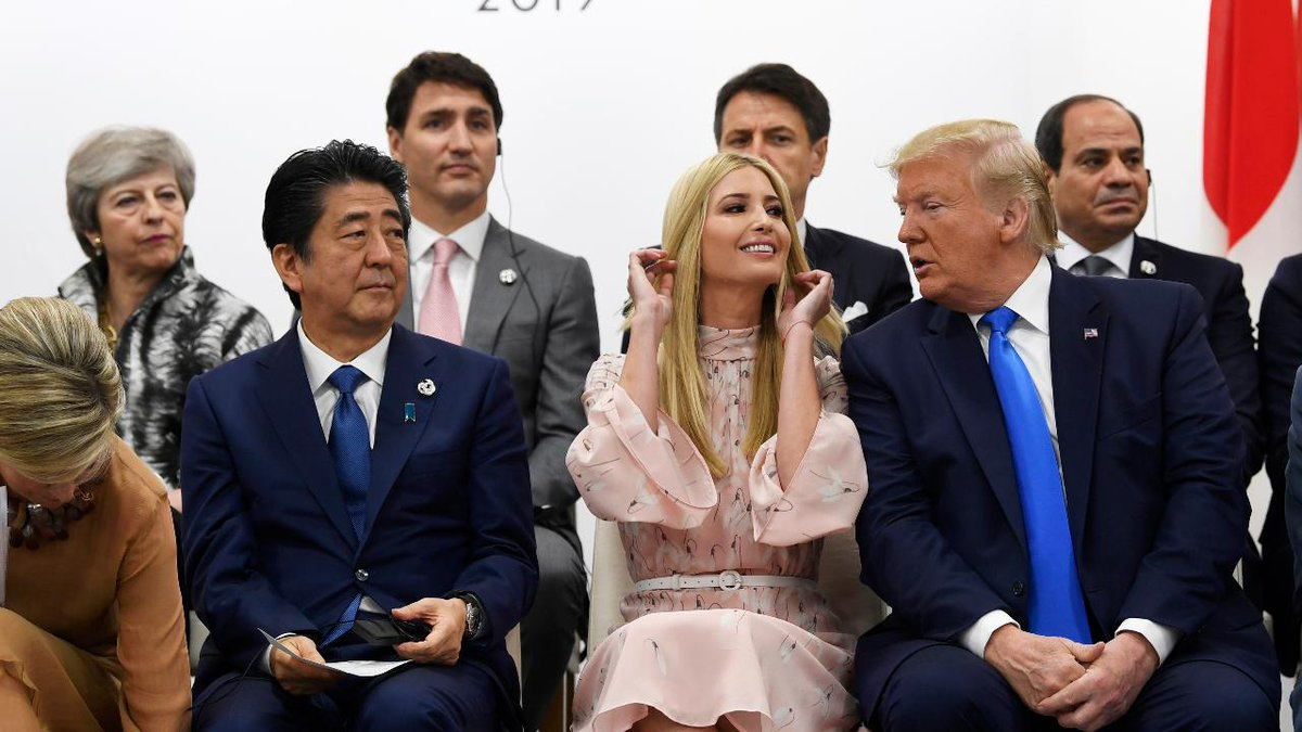 Sure Im going to the G7 summit, after G6 worked out so well! Only this time Im bringing cupcakes and friendship bracelets, and Ill be doing my fire baton routine to a Celine Dion medley, using the different accents of all the world leaders. Nobody puts Ivanka in a corner!