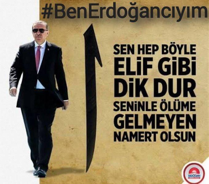#BenErdoğancıyım Bende Erdoğancıyım Ölümüne Reisciyim ve Ülkemi çok Seviyorum zoruna gidenin ..nokta nokta..!