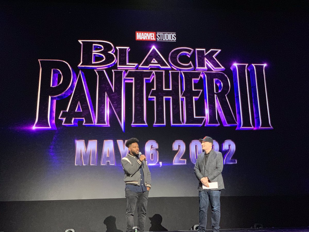 Just announced at #D23Expo: Ryan Coogler returns to direct Marvel Studios' BLACK PANTHER 2, in theaters May 6, 2022.
