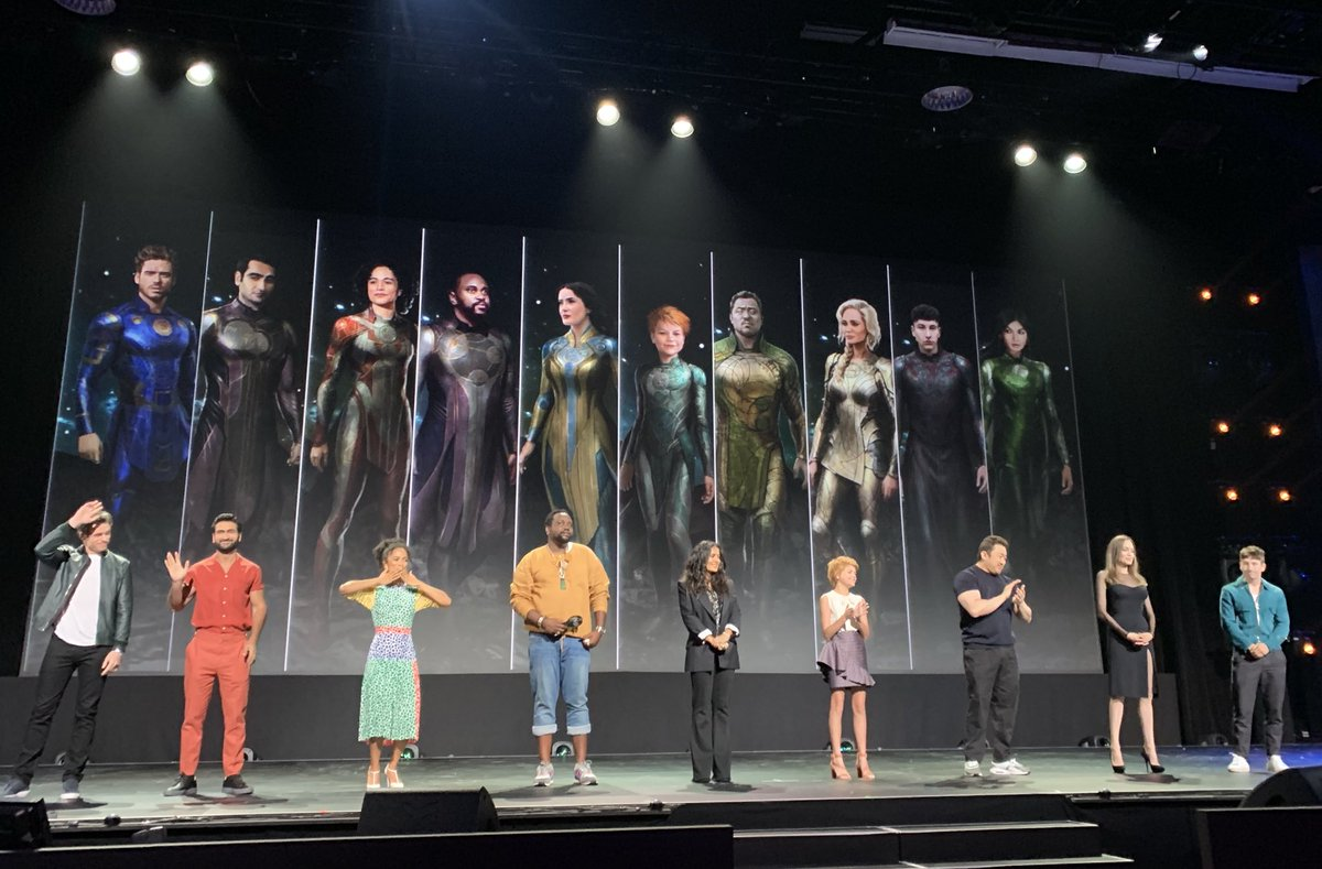 The cast of Marvel Studios' The Eternals takes the stage at the #D23Expo