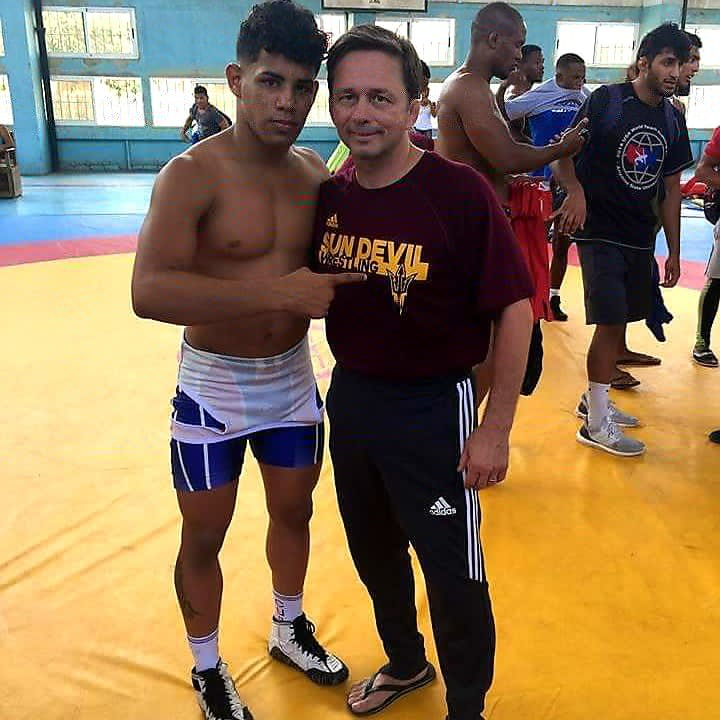 I still remember how three years ago the Sun Devils team went to Cuba that was my first year as an athlete of the national team. I had some battles with his wrestlers and Coach Zeke told me that I had talent to be great and now I'm in his country in search of a dream <br>http://pic.twitter.com/WNjqnkK8rF