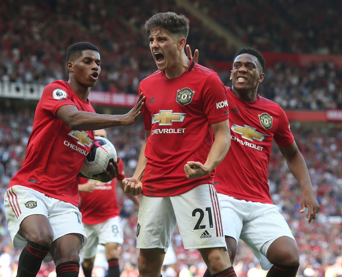 Image result for Marcus Rashford, Anthony Martial Daniel James