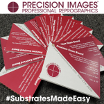 Ever wonder about the substrate options we offer? We have a tool to help you! Here's our little wheel of substrates, with information on recyclability, outdoor/indoor use, best uses, etc. Give us a call or stop in, we are glad to help! #PrecisionImages #substrates #printing