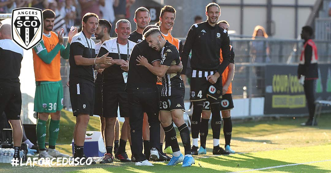 Angers SCO Metz Ligue 1 football Live photo Ouest MEDIAS Twitter joie but Farid El Melali