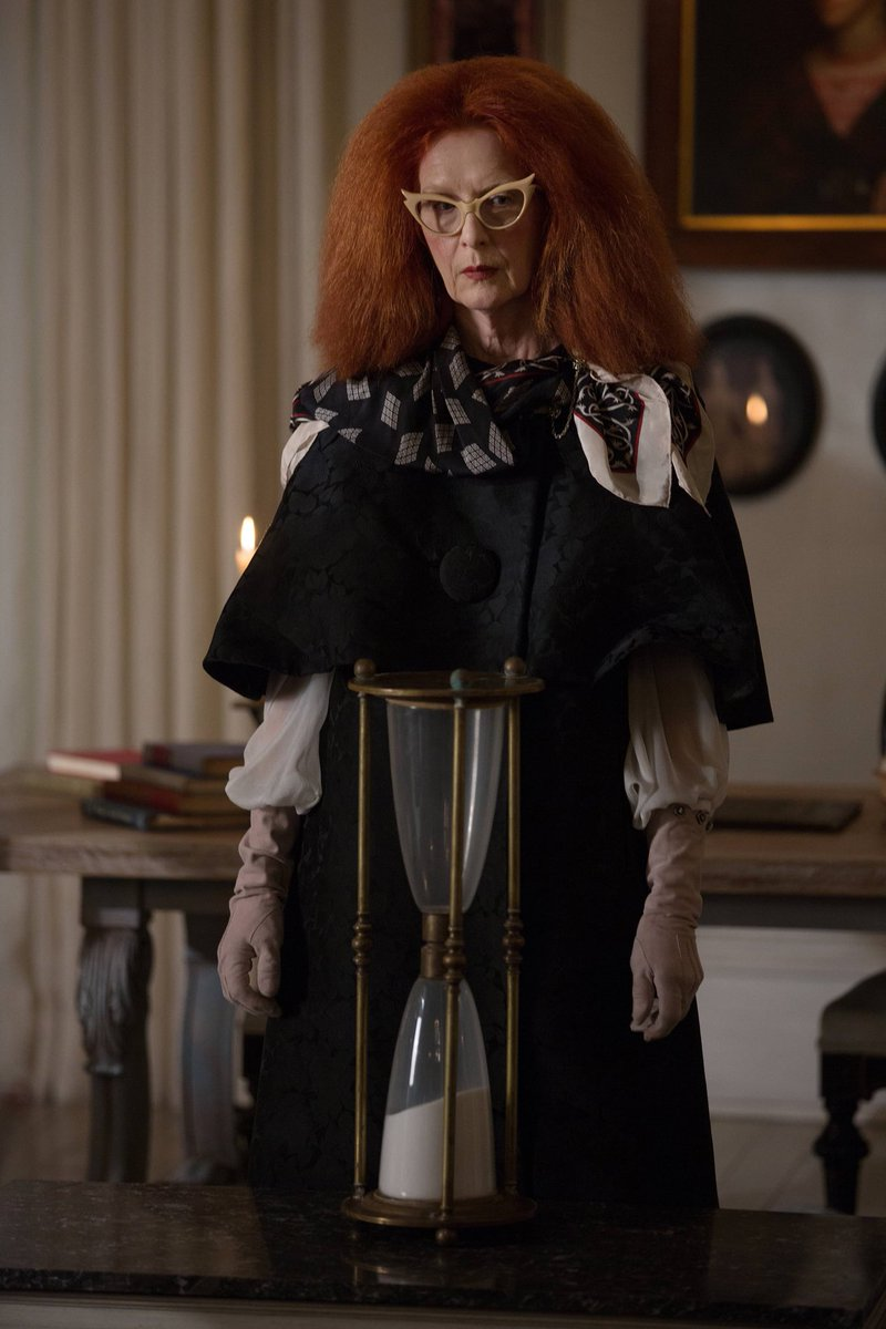 """Myrtle Snow was named after Ryan Murphy's grandmother Myrtle, who forced him to watch Dark Shadows at the age of three and inspired his love of the macabre: """"In a way, American Horror Story is a tribute to her."""" #AHS<br>http://pic.twitter.com/WpFduVILlb"""
