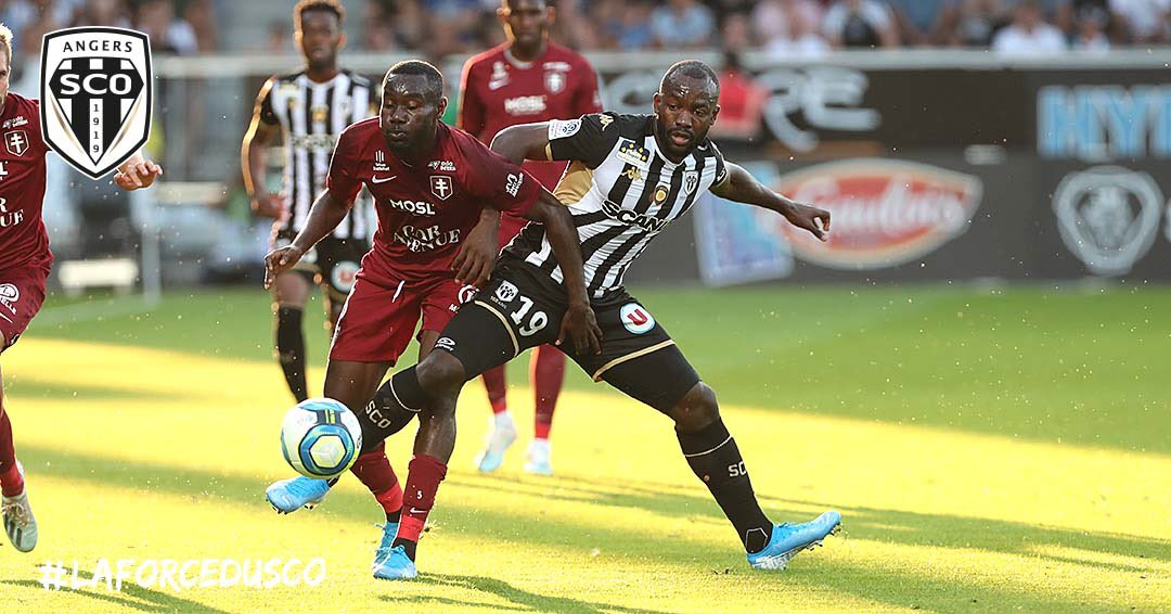 Angers SCO Metz Ligue 1 football Live photo Ouest MEDIAS Twitter Stephane Bahoken