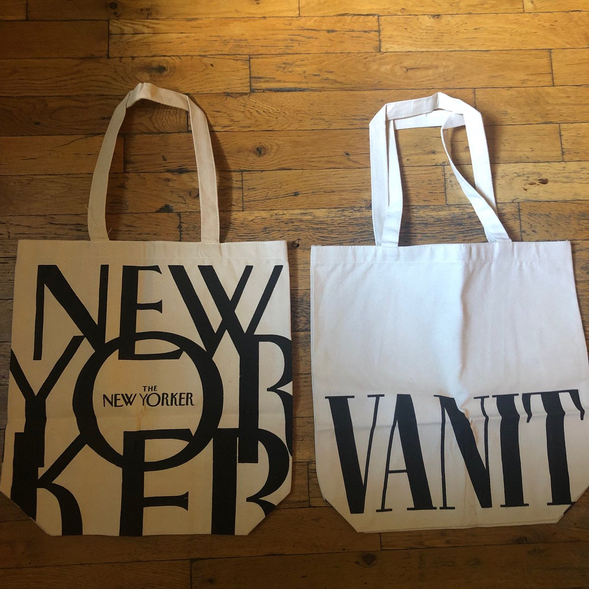 Decisions. Decisions. Which newly arrived tote bag will I take with me to P'town this weekend?