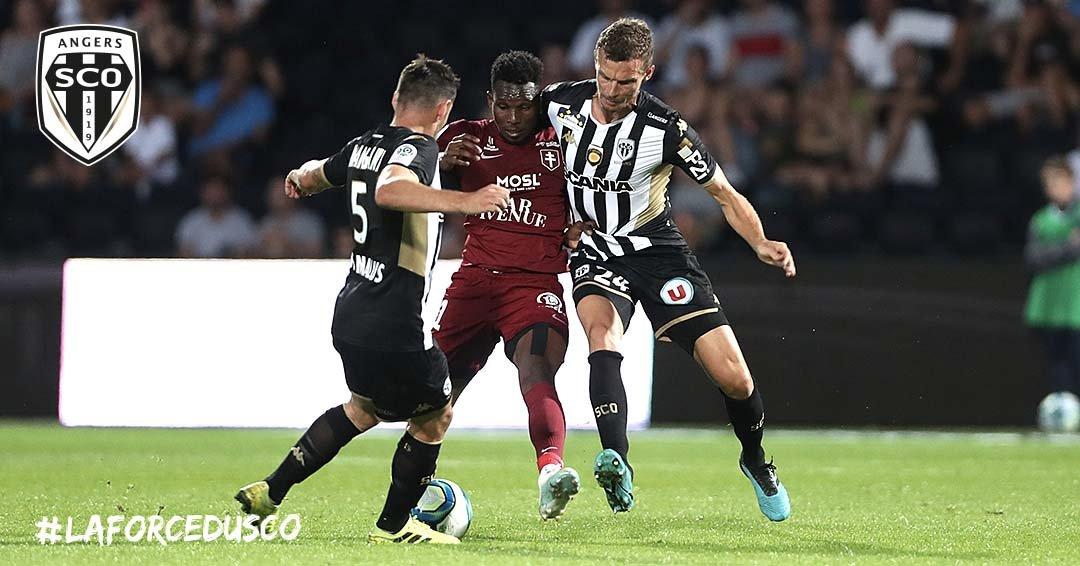 Angers SCO Metz Ligue 1 football Live photo Ouest MEDIAS Twitter Romain Thomas