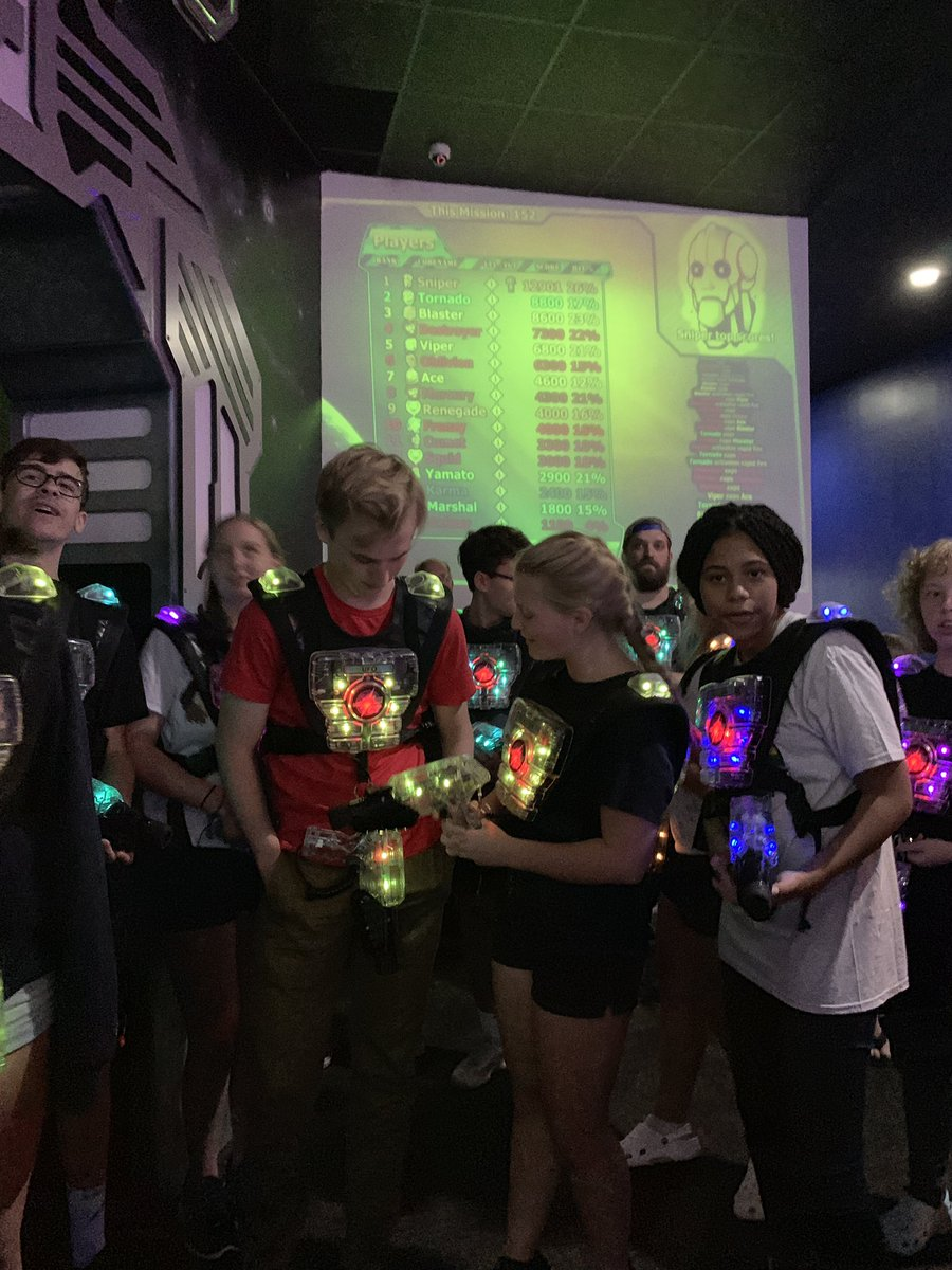 I knew we'd make a great debate team, but turns out we have laser tag skills as well. #EagleDebate #victorylap <br>http://pic.twitter.com/3XaJnnH3FB