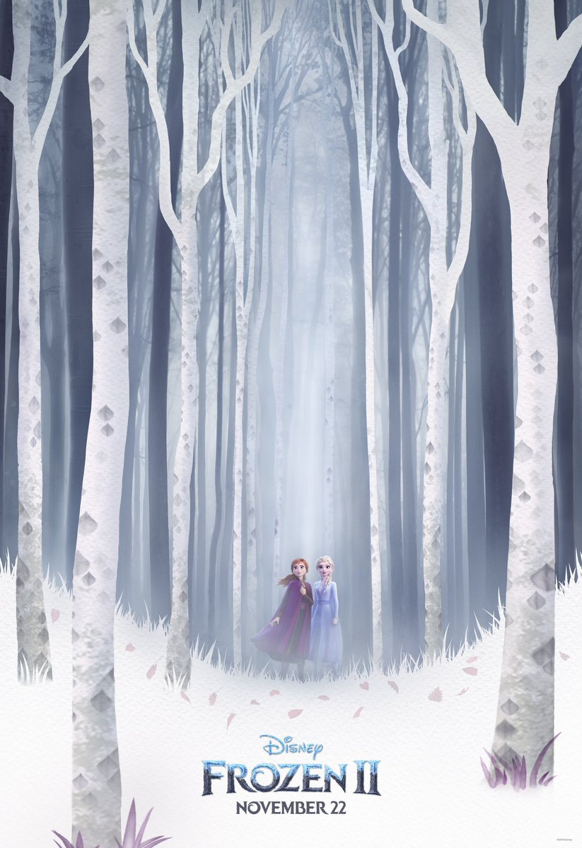 Check out the brand new #Frozen2 poster from #D23Expo. See the film in theaters November 22.<br>http://pic.twitter.com/vLceqWLnsI