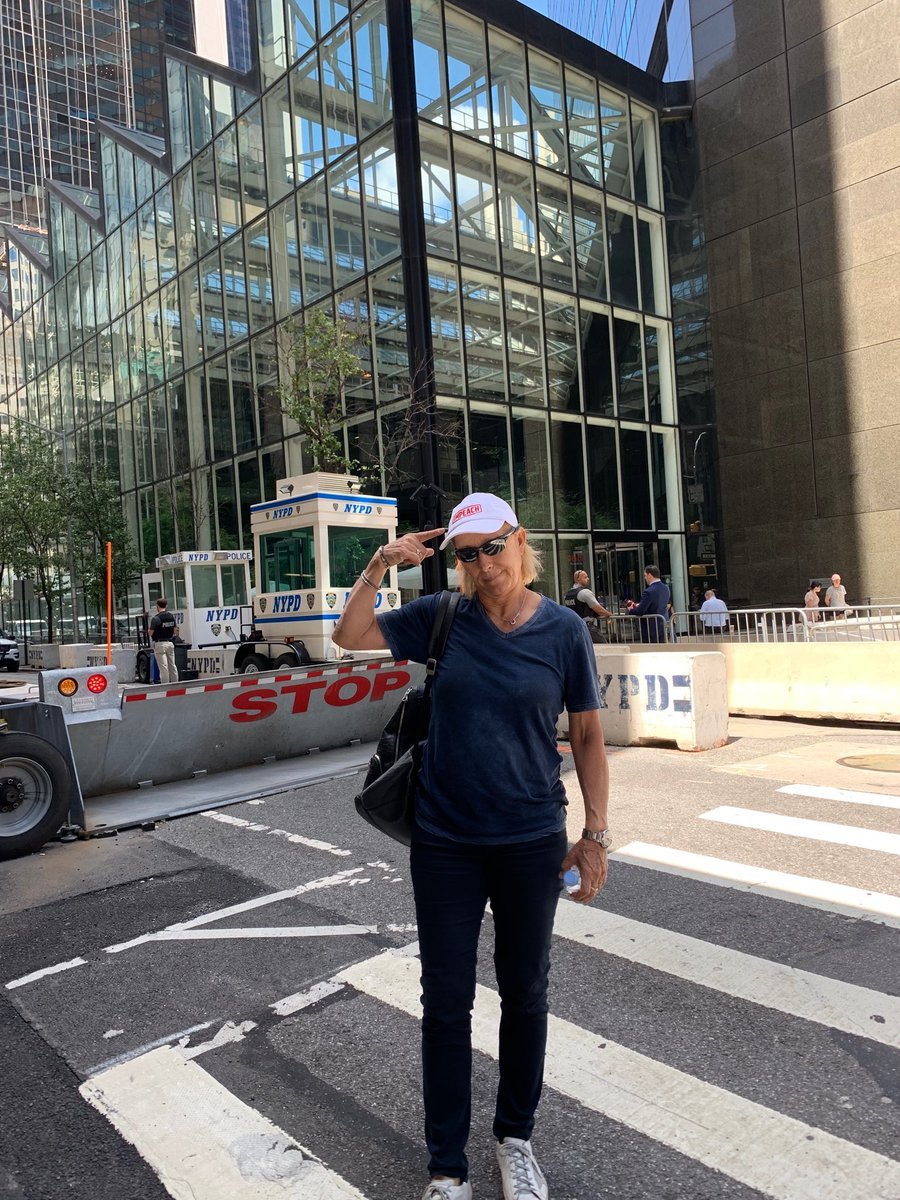 Thought I would take this photo in front of the barricades next to the trump building #ImpeachTrumpNow <br>http://pic.twitter.com/5QL311ja6e