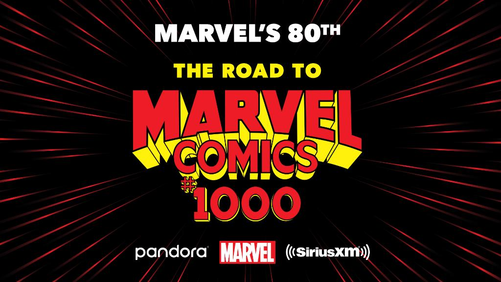 """""""Marvel's 80th: The Road to Marvel Comics #1000"""" music station will launch August 29 on @SIRIUSXM and @PandoraMusic to celebrate Marvels 80th Anniversary. bit.ly/2ZoKK2y #Marvel80"""