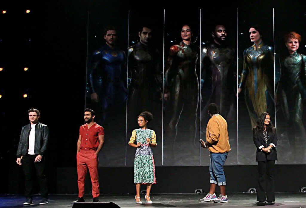 """Take a look at the incredible cast of Marvel Studios' """"The Eternals"""" on stage at #D23Expo. (2/2)"""