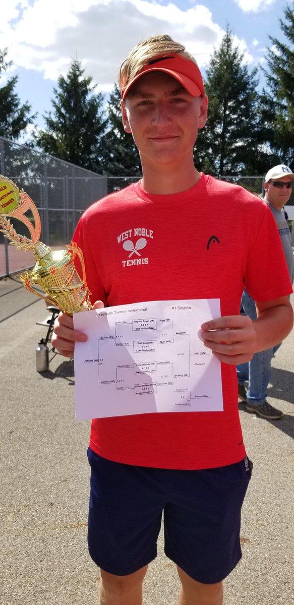 RT @WestNobleAD: Congratulations to Joel Mast on winning the DeKalb Invitational #1 singles title 🎾🥇🏆#ChargerPride https://t.co/w38V3d3jqf