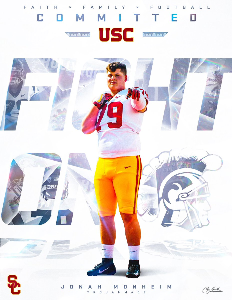 Moorpark offensive lineman Jonah Monheim commits to USC