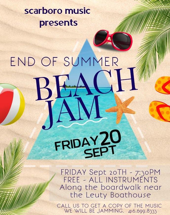 SAVE THE DATE! Friday September 20th!! END OF SUMMER BEACH JAM - ALL INSTRUMENTS! #wearemusic #beachjam #jamonthebeach #endofsummer<br>http://pic.twitter.com/yx81j0naGi