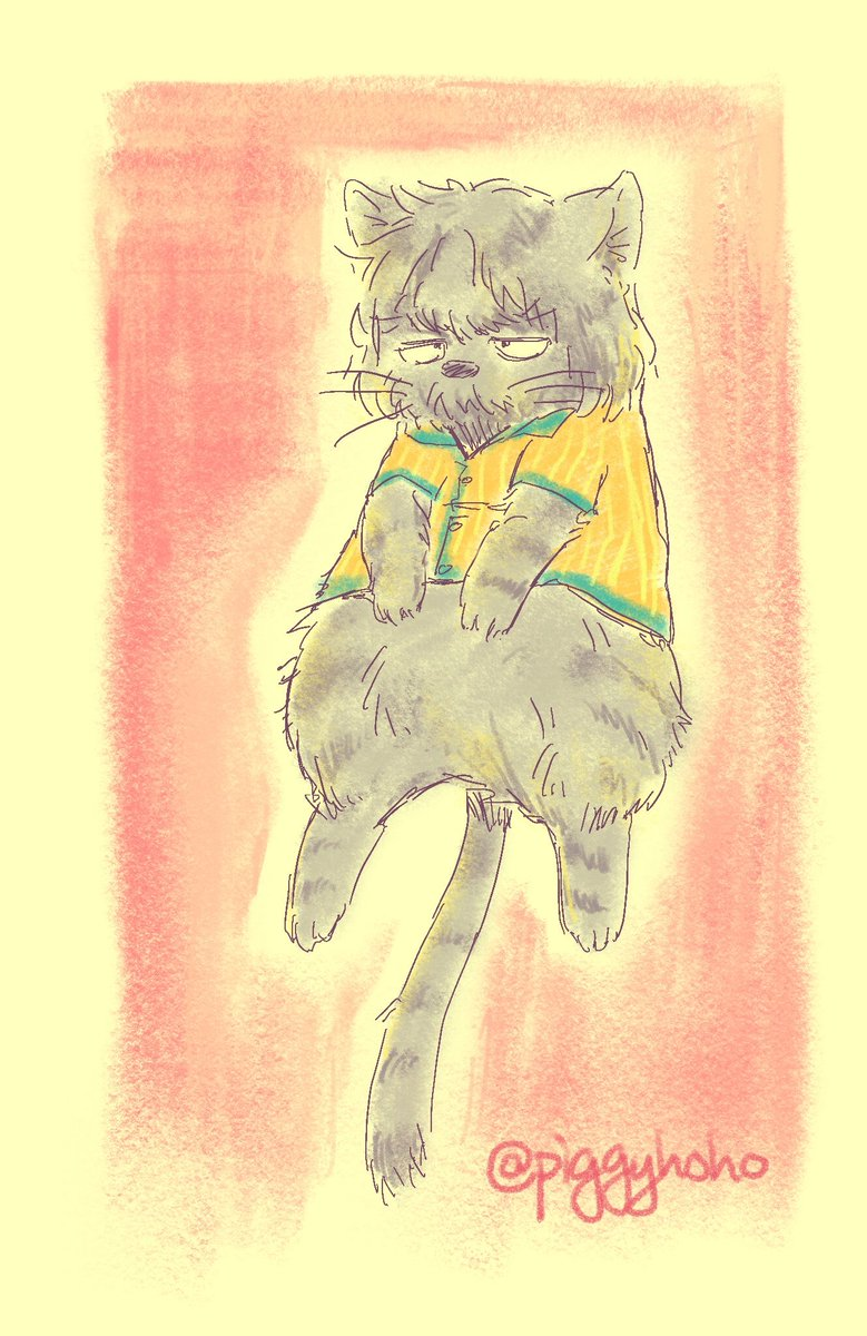 Inspired by LRT  Big old grumpy cat Hank #hankcon  (plus testing out a new art app)<br>http://pic.twitter.com/ut2m0R3FDf