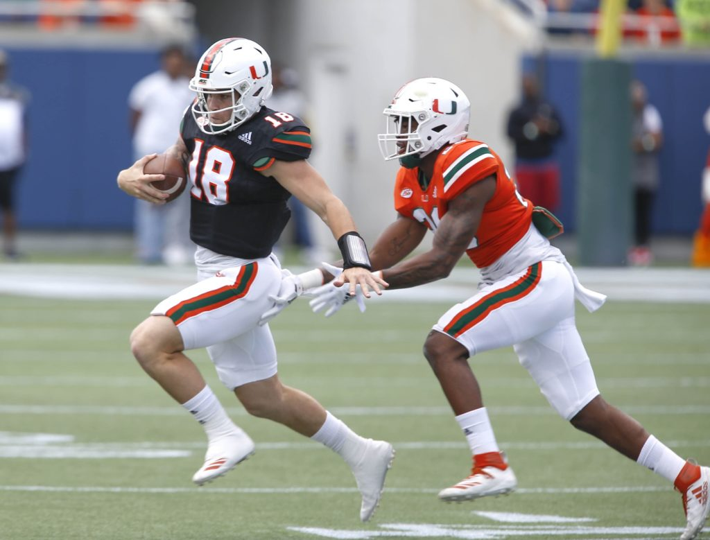 WATCH: QB Tate Martell warms up with Hurricanes' WRs before game https://t.co/zcA4CNugHJ #ItsAllAboutTheU #MiamiHurricanes #TateMartell https://t.co/2WqOFIJUws