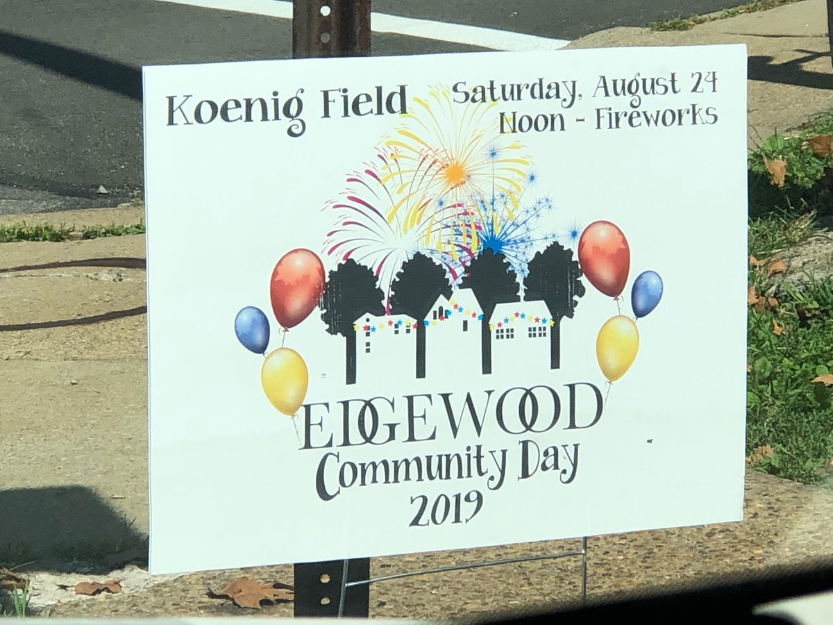 Great time today visiting Edgewood's Community Day. See you at the firework tonight!!!