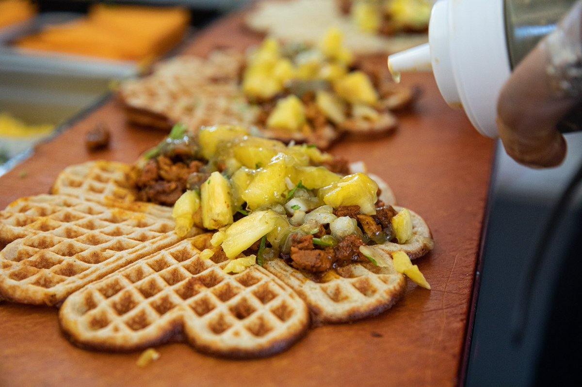 Nordic Waffles On Twitter Welcome To Mnstatefair Dierksbentley We Read Your Favorite Food Is Mexican You Would Love Our Al Pastor Waffle Marinated Pork Topped With Pineapple Cilantro And Salsa Verde Dm