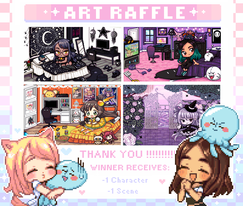 THANK YOU SO MUCH FOR 30K.. T.T decided it'd be fun to host a raffle (I haven't done this since dA kiriban LMAO )   RULES:  RT this tweet (follow appreciated but not necessary KFKJSDF)   Winner receives a scene + character  Ends on Sept. 24th  TY AGAIN for blessing me.. <br>http://pic.twitter.com/4tFDhTE8o3