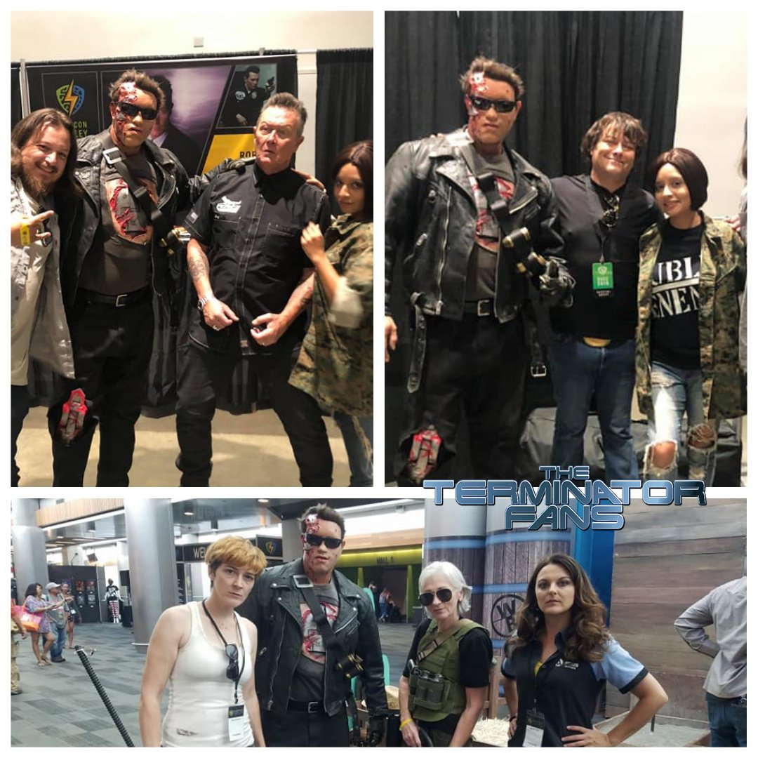 Check out Adam Kyron Murillos amazing cosplay of @Schwarzeneggers #UncleBob from #Terminator2 #Terminator #EdwardFurlong #JohnConnor @robertpatrickT2 #T1000 #Schwarzenegger #T800 #TerminatorDarkFate @SVComicCon