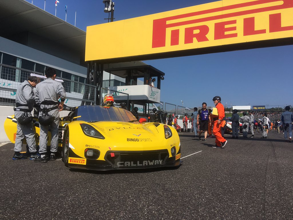 """The """"Yellow beast"""" is on the grid for today's #Suzuka10H! A solid morning warmup sets us up for what we hope to be an exciting race. Follow live, starting at 10:00 local:  https:// bit.ly/2MyRHMs     #C7GT3R <br>http://pic.twitter.com/WpSHTYkfzF"""