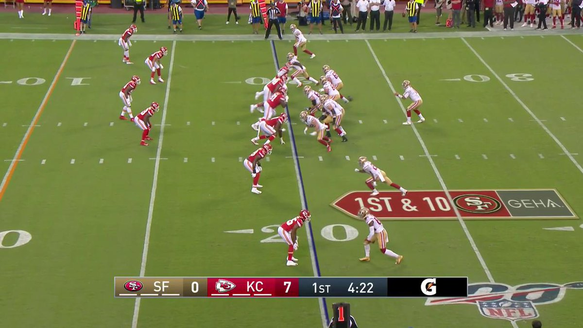 RT @NinerAlex: The Cheetah with the TD on a beautiful pass from Jimmy Garoppolo. #SFvsKC https://t.co/IDjqs8OnPb