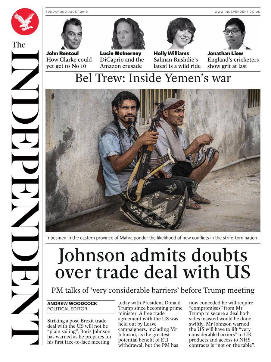 #RT @Independent: Tomorrow's @independent front page #tomorrowspaperstoday To subscribe to the Daily Edition http://www.independentsubscriptions.co.uk/