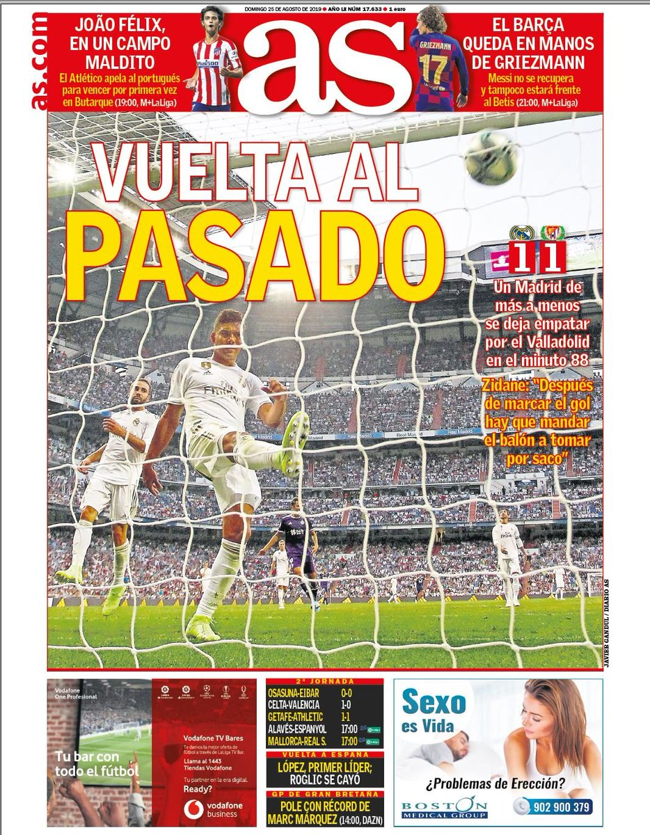 Footballespana On Twitter Sunday S Front Page Headlines From Marca Diario As And Mundo Deportivo In English Https T Co Yrsnxmq804