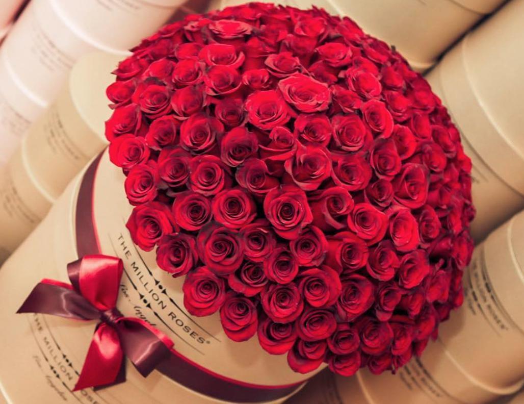 Открытка с миллионом роз
