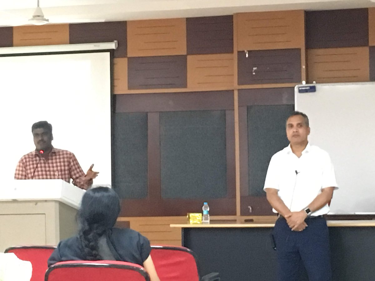 A great turnout in my yesterdays publishing talk at @HydUniv. Many thanks Dr Murugan Pattusamy for the invite and great hospitality. Truly engaging audience - it was heartening to see their eagerness to learn about publishing process!