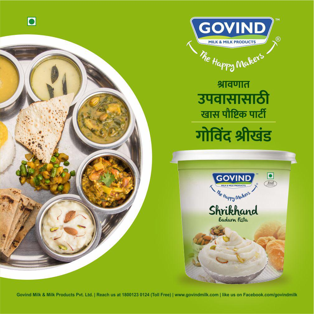 Who said healthy cannot be tasty? Make Govind's Badam Pista Shrikhand a part of your everyday meal and enjoy it's benefits and delicious taste!..#govindmilk #govindmilkproducts #govind #mumbai #pune #india  #shravan #shrikhand #fasting #indianfestival #holyfestival