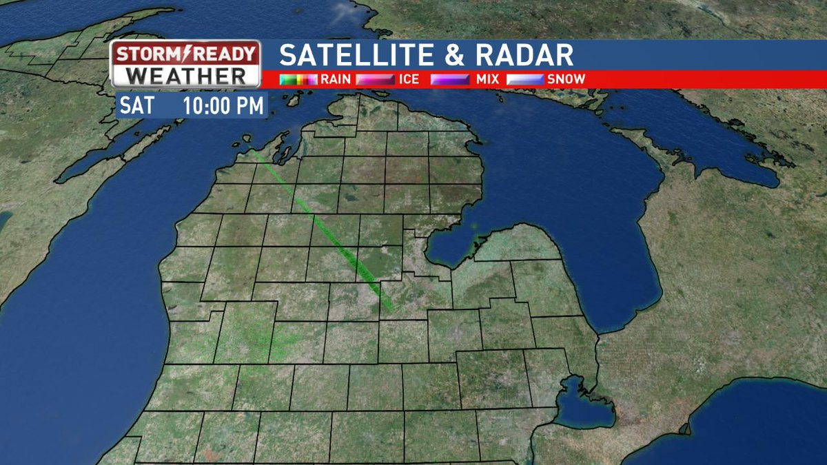 Here's a look at your Mid-Michigan satellite & radar. Your #StormReady Forecast https://t.co/8o5KFAWMlM #miwx @nbc25fox66 https://t.co/LCdGmmxPfB