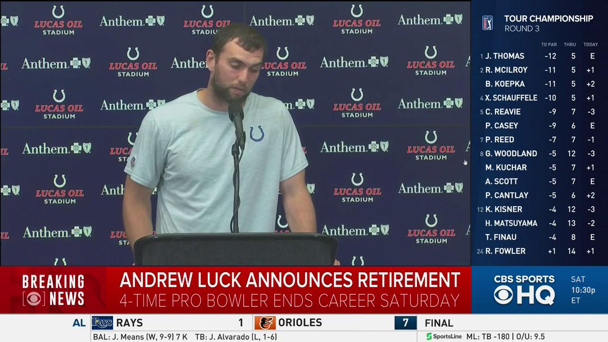 Colts quarterback Andrew Luck announces he is retiring from football.
