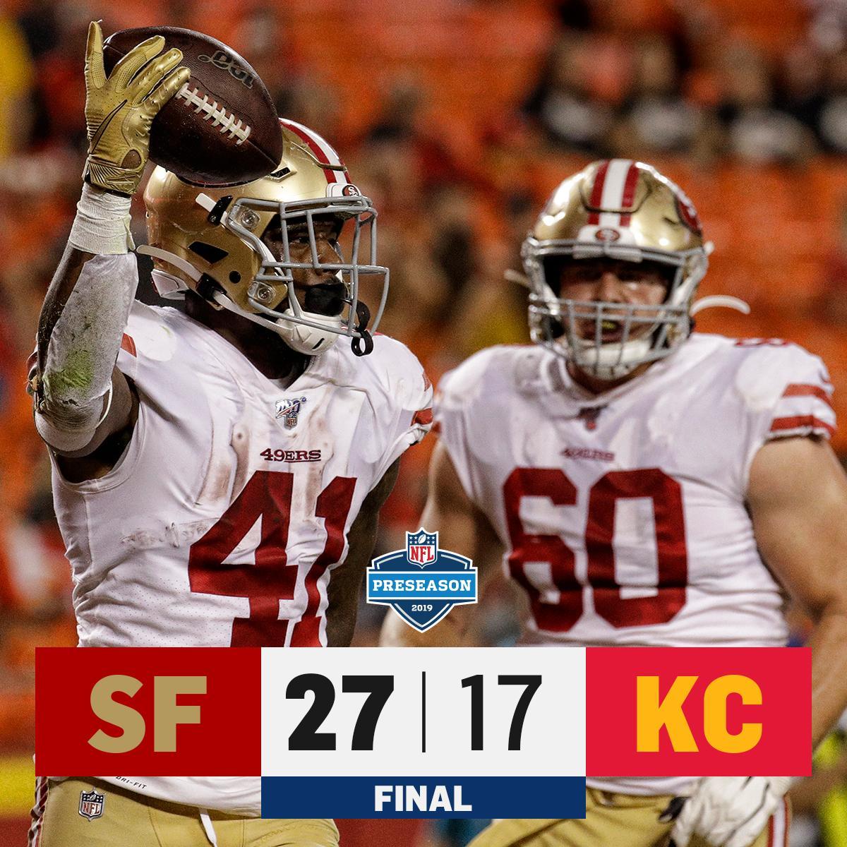 RT @NFL: FINAL: @49ers WIN in Arrowhead! #SFvsKC https://t.co/1Rh7EdMcOW