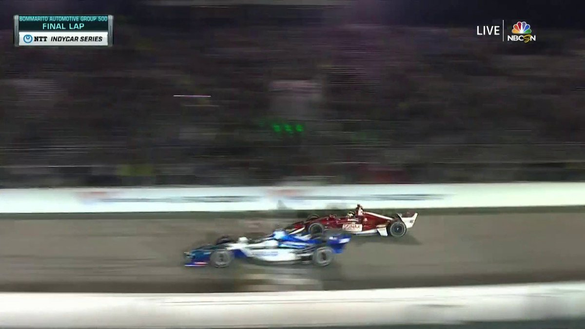 ICYMI last night, you really missed it. What a finish at @WWTRaceway! #Bommarito500   @IndyCar