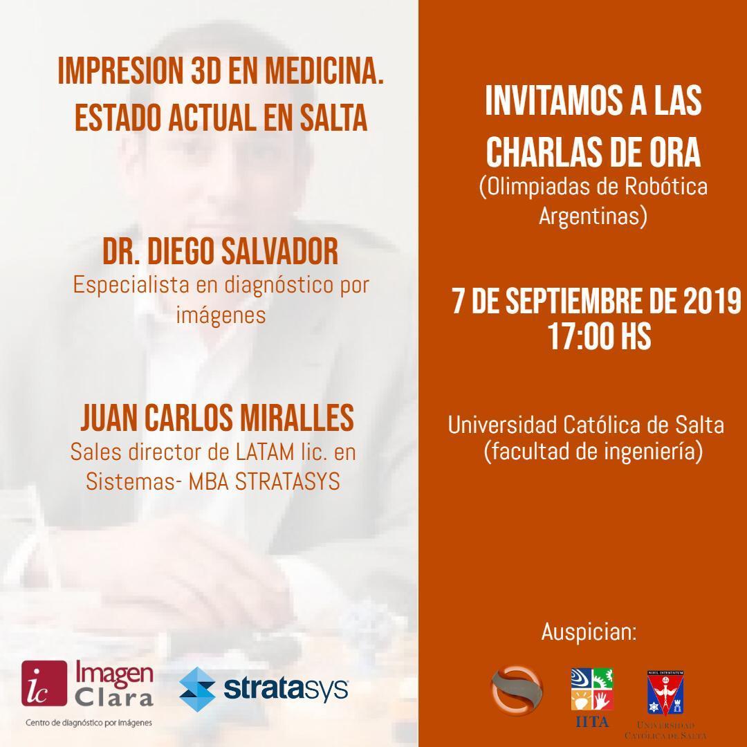 Invitamos a los profesionales de la salud a presenciar esta gran charla, no se la pueden perder!!! #3Dprinting #3DSomnia #Medicina #Salta #salud #3dArgentina