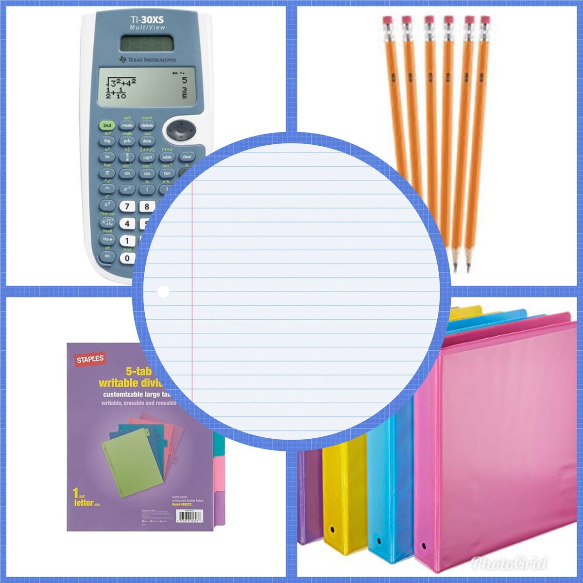 Are you out getting school supplies? This is what you need for math class! Binder, dividers, pencils, calculator and paper! https://t.co/LiOlWz43Je