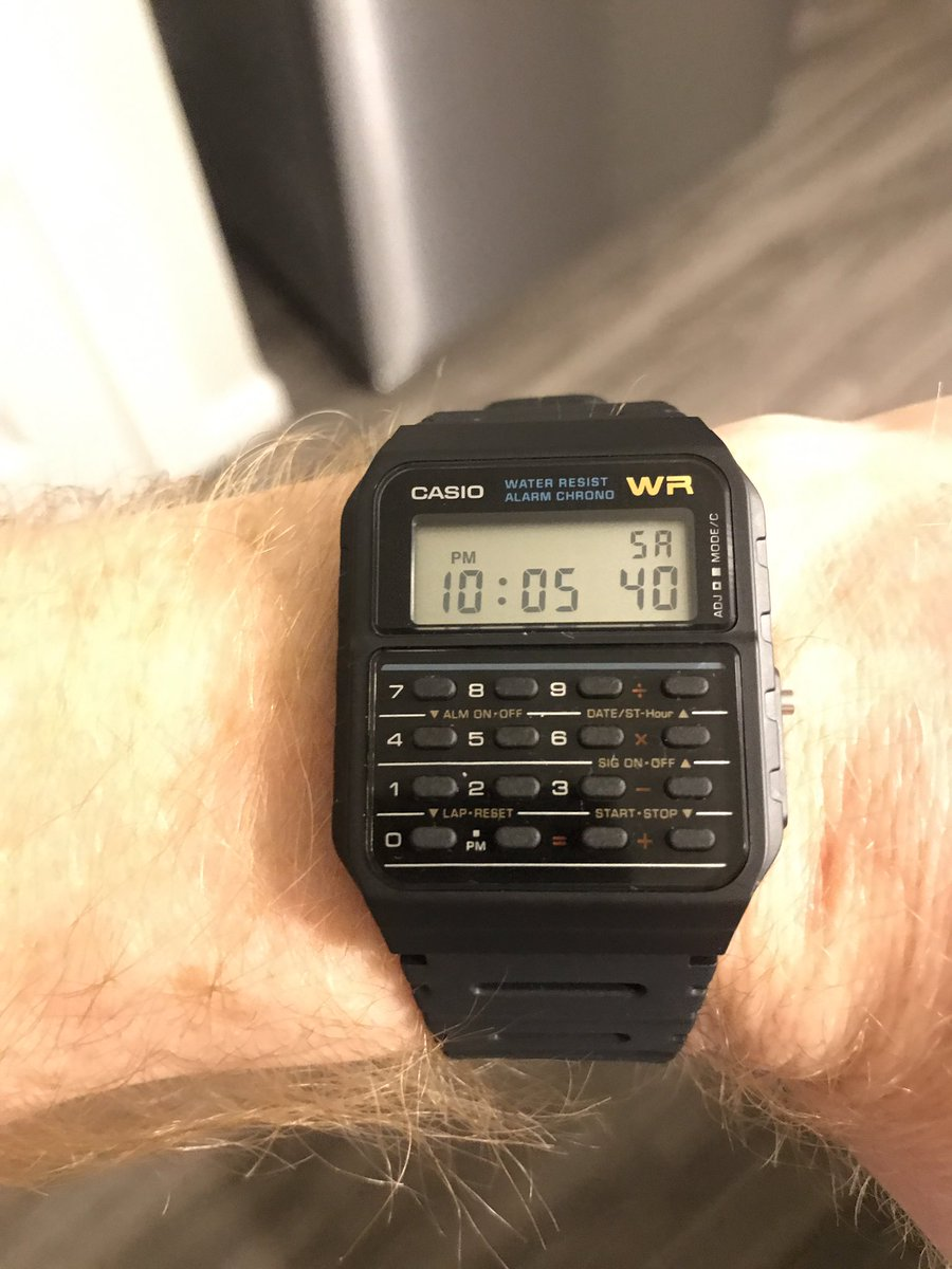 I'm now the proud owner of a calculator watch @PromeTeezus @ItsSherwood https://t.co/uI00Yy8r7o