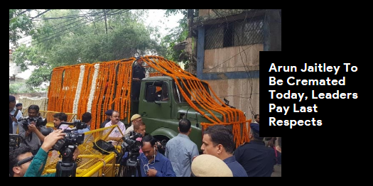 Lead story now on http://ndtv.com#ArunJaitley will be kept at the BJP office between till 1 PM where party workers and leaders will pay homage.Read here https://www.ndtv.com/india-news/arun-jaitley-to-be-cremated-today-leaders-pay-last-respects-2090025…#NDTVLeadStory