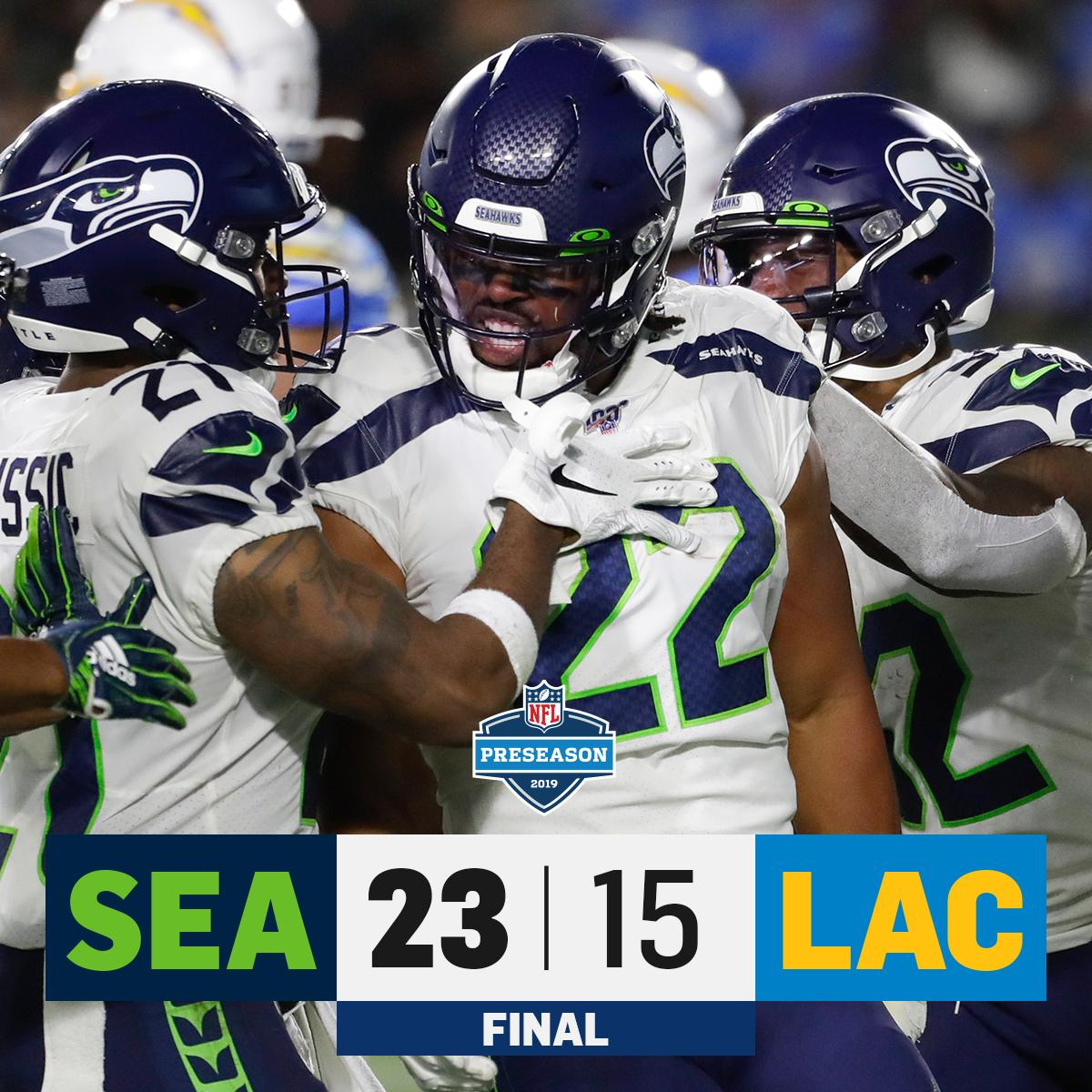 RT @NFL: FINAL: @Seahawks wrap up Preseason Week 3 with a win! #SEAvsLAC https://t.co/wn3pQb6Y6S