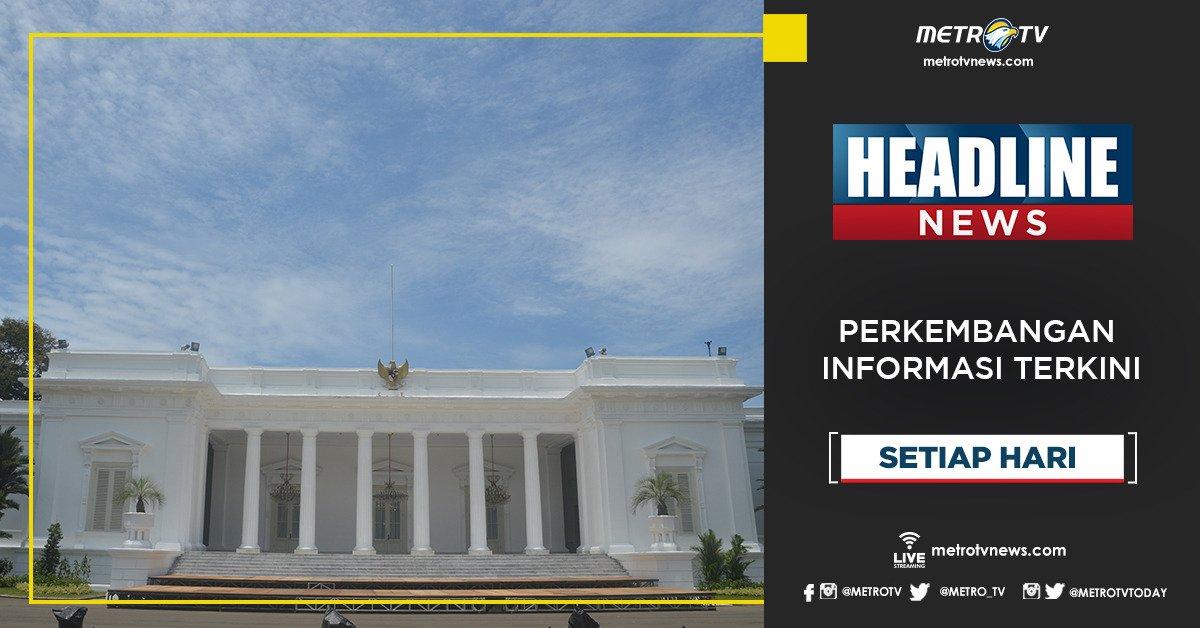 Dapatkan perkembangan informasi terkini dalam #HEADLINENEWS pukul 13.00 WIB di @Metro_TV #KnowledgeToElevate #HeadlineNewsMetroTV http://metrotvnews.com
