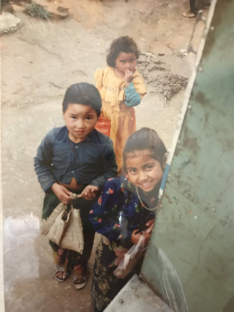 #Kathmandu it was in the mountain village near Kathmandu 25ys ago. They approached to the bus, I couldn't do anything.  I hope they have grown up quite ladies.