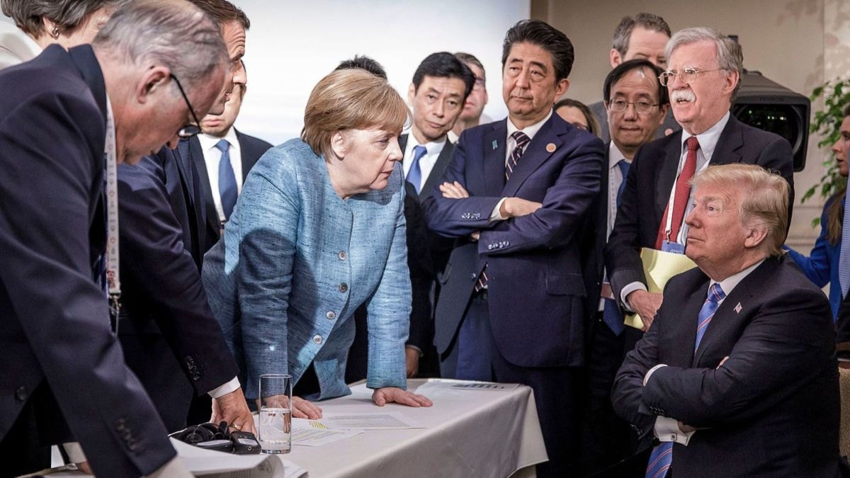 "Trump goes to the G-7 after calling an ally ""nasty,"" calling Jews ""disloyal,"" and the chairman of the Federal Reserve an ""enemy."" The French president, who is hosting this weekend's summit, says they won't issue a final communique — so that Trump...  https://www. latimes.com/politics/story /2019-08-23/the-world-economy-is-slipping-toward-recession-and-trump-isnt-helping   …  #USRC <br>http://pic.twitter.com/WHLx7hc38O"
