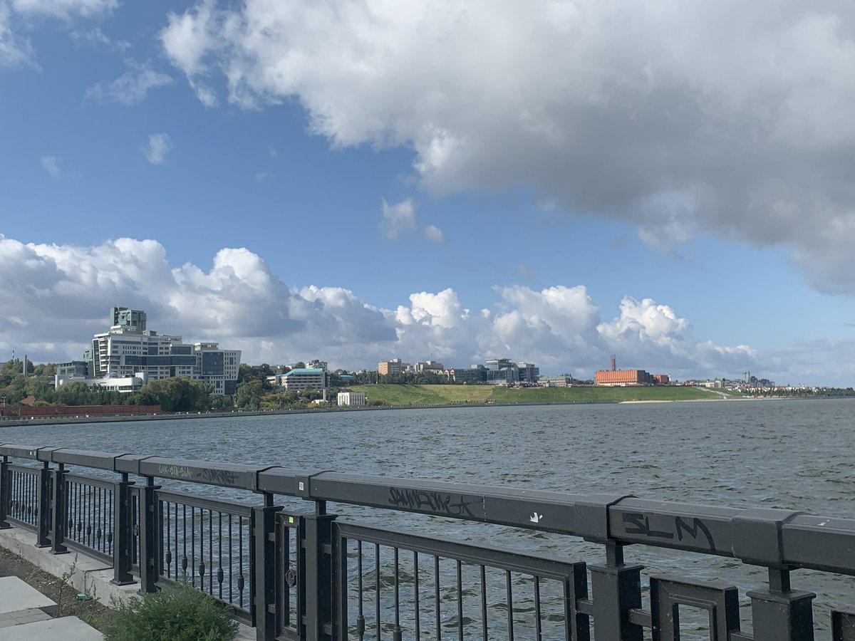 Sunny run along the Volga River and up to the Kazan Kremlin before breakfast with @shanermann and then first visit to see @worldskillsuk #TeamUK @WorldSkills @WorldSkillsKZN